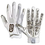 GRIP BOOST Stealth Football Gloves PRO Elite (Bianca, Youth Medium)