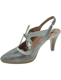 Aga SHU. Zapato Descubierto con Lazo Tacón 8,5 cm para Mujer - Modelo 5715