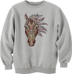 Ethnic style horse face dope Unisex Sweater