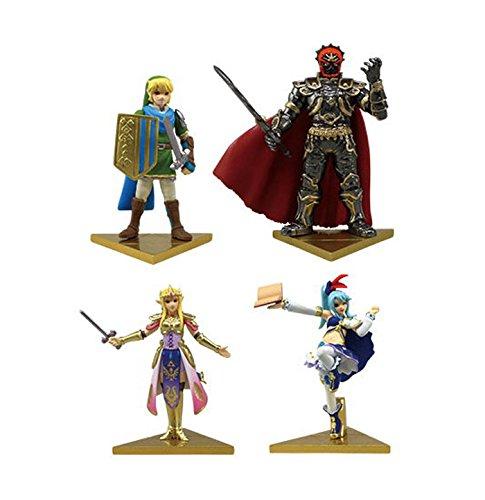 Legend of Zelda Musou Hyrule Warriors Mini Figure~Set of 4 - Mini-figur Pokemon Bandai