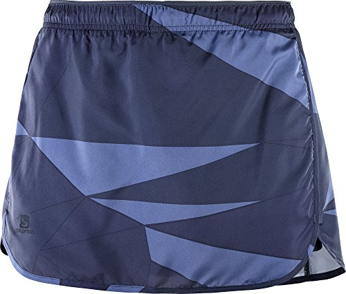 Salomon Damen Lauf-Hosenrock, Agile Skort, Taft, Blau, Größe: S, L40129100 (Outfit Rock Skort)