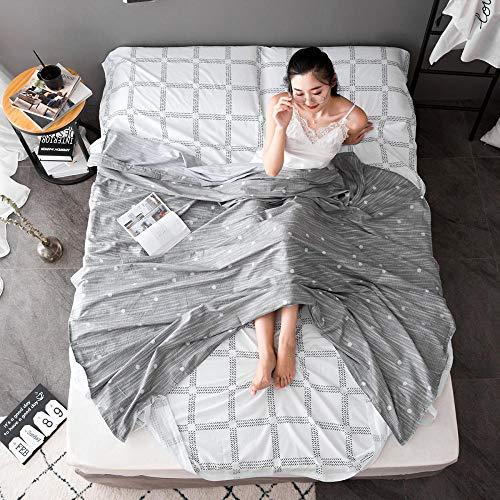 Saco dormir verano 100% Algodón completo+funda almohada