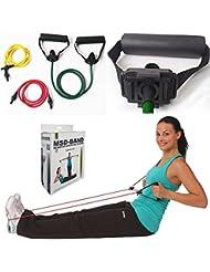 3Tubing (Light, moyenne, forte) + 2poignées solides rééducation et fitness léger Tubing Set Light