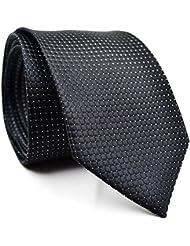 MIOIM® Hombre Negocios Seda Clásico Jacquard Tejido De Cuadros Boda Corbata De Lazo