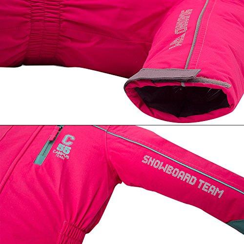 Schneeoverall OUTBURST Overall Kinder skianzug wasserfest Gr. 92 -122 (pink, 104) - 9
