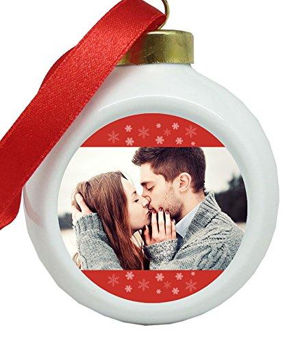 Weihnachtskugel mit Foto - Personalisierbar Weihnachtskugel Ornament - Christbaum Kugel selbst gestalten - Weihnachtshänger mit eigenem Foto bedrucken aus keramik Kerstbal met foto - keramiek …