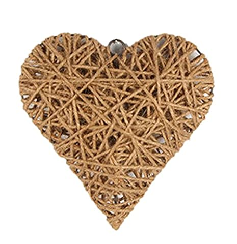Icegrey Handmade Hemp Rope Weave Art Wall Decor Heart Shape 24 - Basket Weave Planter