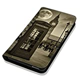 Hülle Galaxy S7 Hülle Samsung S7 G930F Schutzhülle Handyhülle Flip Cover Case Samsung Galaxy S7 G930F (OM1067 Big Ben England UK Sepia)