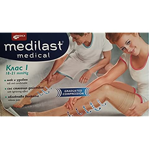 Medilast® Medical-Fascia elastica Calze a compressione, lunghezza: 7/8, L, classe
