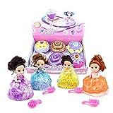 Lebeaut 6Pcs duftende Prinzessin Puppe 5,5-Zoll-Sammlerpuppe verwandeln Kuchen zu Puppe für Kinder...