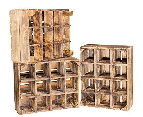 2er Set neue geflammte Kiste für Flaschenregal- Weinregal Weinkiste Flaschenkiste...