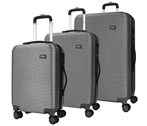 !GÜNSTIG! Proffi 3 S/M/L HARTSCHALEN Trolley Kofferset Grau. SuitcaseSet