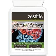 Zestlife mente y memoria de la ayuda 30 Caps - Ayuda a mejorar el rendimiento del cerebro , esta avanzada fórmula cápsula de liberación rápida , puede ...