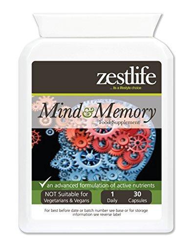 Zestlife mente memoria ayuda 30 Caps - Ayuda mejorar