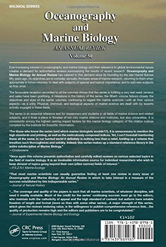 Oceanography and Marine Biology: An Annual Review, Volume 50