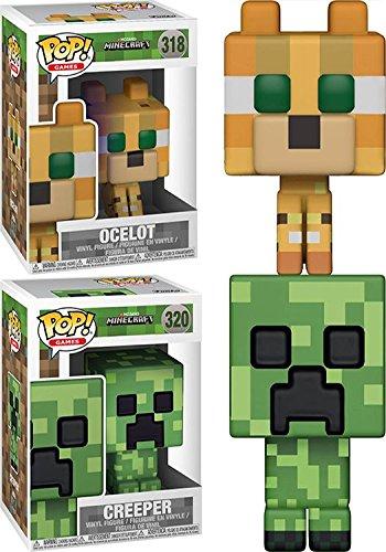 FunkoPOP Minecraft: Ocelot+ Creeper – Stylized Video Game Vinyl Figure Set NEW