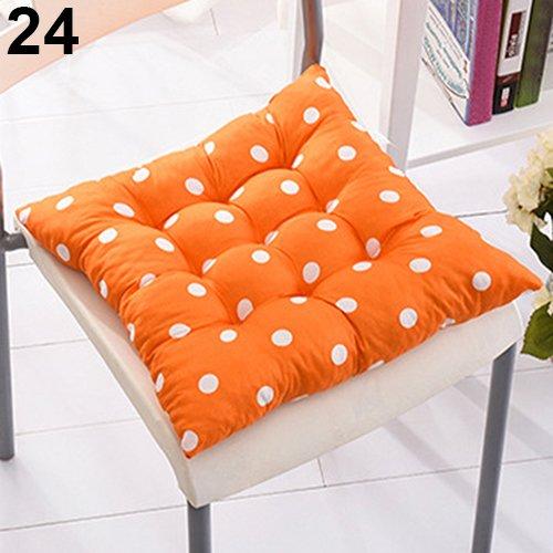 RIsxffp bequemes Kissen Polka Dot Sitzfester Sitz Reise Büro zu Hause Dekoration Krawatte auf Stuhl #2-Orange Polka Dot (Dot Polka Orange)