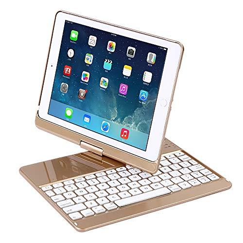 LHXHL IPAD Air2 Alles inklusive Bluetooth Tastatur Schutzhülle für iPhone pro9.7 Bluetooth Tastatur Fälle iPad Smart dünne Schutzhülse 360   Grad drehbare Schutzhülse (Iphone Bluetooth Tastatur Fall)