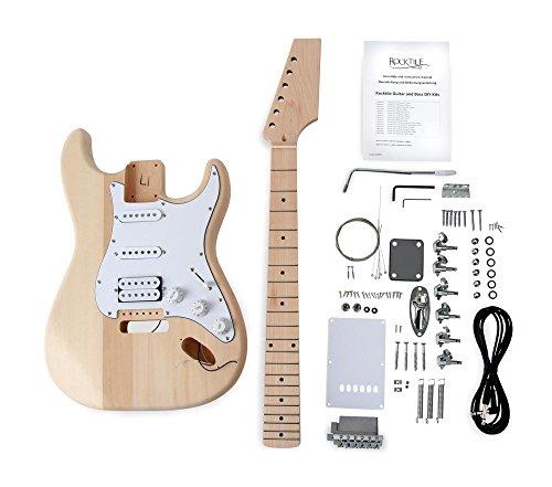 """Rocktile DIY PST Bausatz E-Gitarre (""""Do-it-yourself"""" E-Gitarre Bausatz PST-Style, Korpus: Linde, Hals: Ahorn geschraubt, Griffbrett: Ahorn)"""