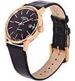 Rotary Watches Avenger Men's Quartz Watch with Black Dial Analogue Display and Black Leather Strap GS02877/04