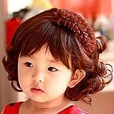 Spritech (TM) los niños de Lovely elegante esponjoso realista corto ondulado rizado peluca de pelo sintético peluca de fibra para 1–4años de edad niña