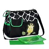 Chilsuessy Babytasche Pflegetasche mit wasserdichter Wickelunterlage Tragetasche Wickeltasche Windeltasche Kinder Baby Reise Tasche, Giraffe