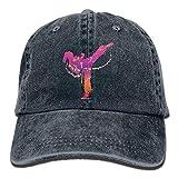 Hoswee Unisex Kappe/Baseballkappe, Karate Girl Denim Hat Adjustable Mens Casual Baseball Cap