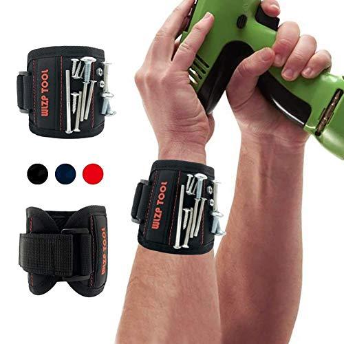 Magnetische Armbänder, Magnetarmband mit 10 starken Magneten, Schrauben, Nägel, Dübel -Best Werkzeug Geschenk für DIY Handwerker, Vater, Ehemann, Freund, Männer, Frauen