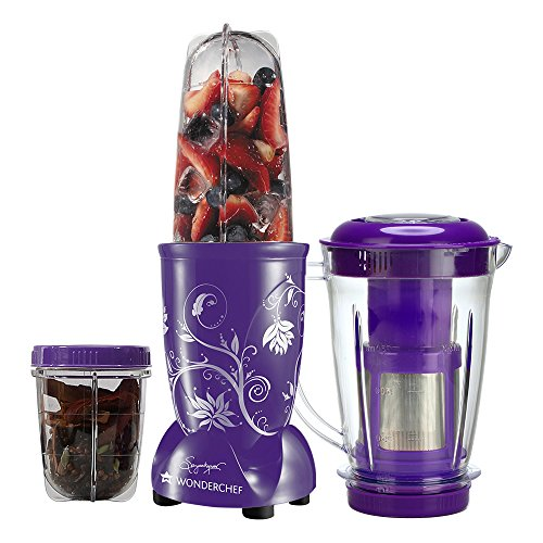 Wonderchef Nutri-Blend 400-Watt Blender with Juicer Attachment (Purple)
