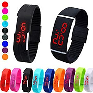 VOLTAC` ™ TPU MultiColour Rubber Silicone Led Trendy Digital Unisex Band Watch- For Boys, Men, Girls Pattern #224427