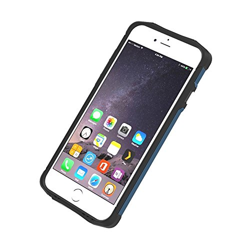 Phone case & Hülle Für iPhone 6 / 6s, TPU + PC Stahl Rüstung Kombination Fall ( Color : Black ) Navy