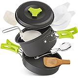 Hivexagon Batterie de Cuisine de Camping ou randonnée, Kit de 10 pièces Casseroles...
