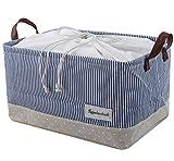Organisieren Körbe für Kleidung Lagerung - Lagerung Körbe aus umweltfreundlichen Baumwolle. Arbeitet als Stoff Schublade, Babyraum, Spielzeug-Speicher. Hohe Qualität Kinderzimmer Körbe passen auf die meisten Regale, Marineblau