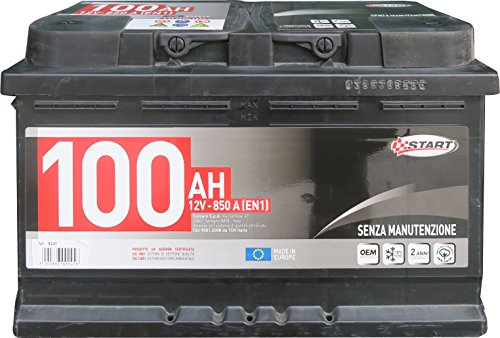 Batteria Autocarro 100AH polo positivo: sinistro Cassetta L4R