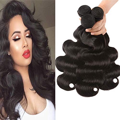 Huarisi Brazilian Virgin Hair Body Wave Bundles 16 18 20 Inch 8a 100 Unprocessed Brazilian Human Hair Extensions for Braiding