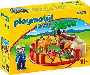PLAYMOBIL- 1.2.3 Recinto Leones Juguete, Multicolor (geobra Brandstätter 9378)