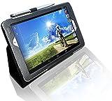 LuvTab Acer Iconia A1 (A10-840 only) Tab 'Genius' Tasche Case Hülle, Mit Aufsteller Funktion, Mit Stylus-Stift (8.0 Zoll) (Schwarz)