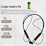 KOBWA Magnetic Neckband Earphones, Wireless Bluetooth Headphones Retractable Sports Earbuds Call Vibrate Alert