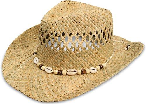 Cowboy Strohhut aus 100 % natürlichem Stroh Farbe (Strohhut Safari)