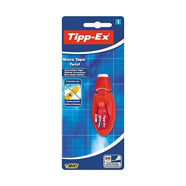 Tipp-Ex Micro Tape Twist Cintas Correctoras 8 m x 5 mm – colores Surtidos, Caja de 10 unidades