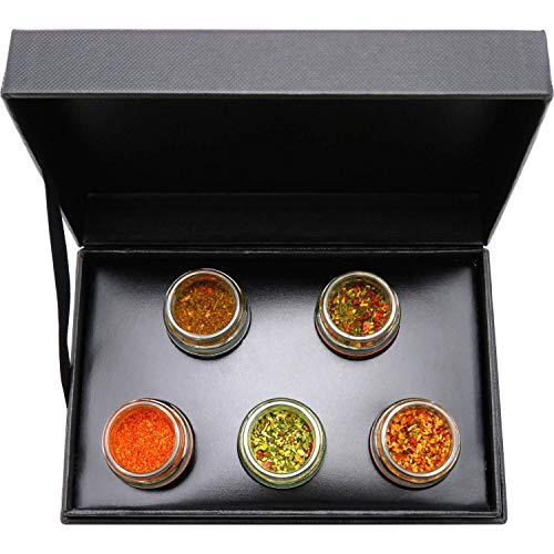 51HN 2YFhOL - Hallingers 5er Premium-Grill-Gewürze als Geschenk-Set (95g) - Grilllust (MiniDeluxe-Box) - zu Sommer Grillen Für Ihn