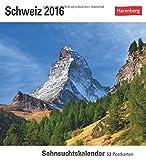 Schweiz 2016: Sehnsuchtskalender, 53 Postkarten