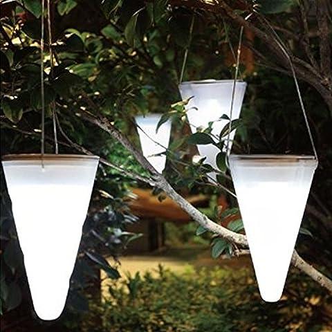 6 Stück Garten Solar LED Lichterkette, kegelförmig, Kornett