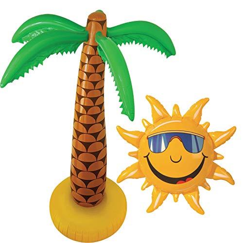 Palme 90 cm & Sonne Luau Hawaiian Tropische Blow Up Party Dekoration ()
