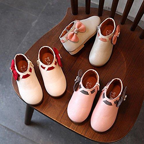 Sneaker Enfant Bébé Filles Bowknot Strass Zipper, QinMM Mode Bottes Fermeture Occasionnel Chaussures