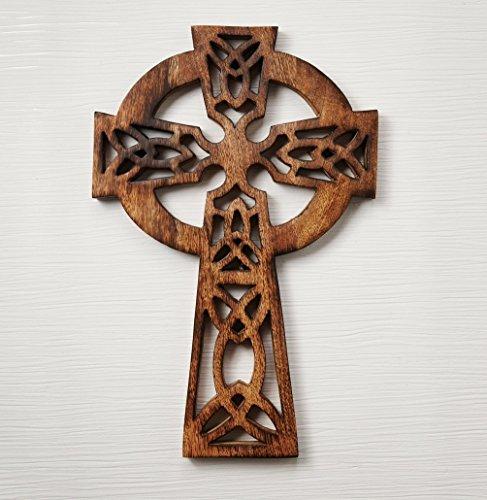 Dekorative Kruzifix hölzerne Wand Kreuz Kunst Plaque handgefertigt für Wohnkultur, ein perfektes Geschenk für ihn oder sie, Mann oder Frau, Freundin oder Freund, Mama oder Papa und Großmutter Granddad Geschenke Für 10 Dollar Oder Weniger
