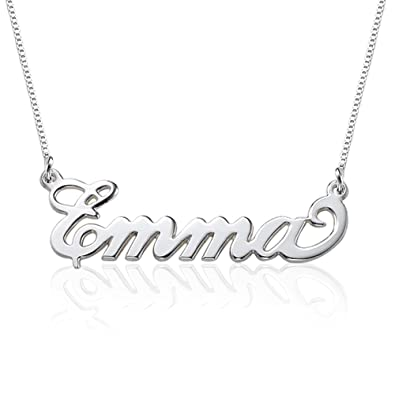 Small name necklace 925 sterling silver xs name pendant tiny small name necklace 925 sterling silver xs name pendant tiny custom made jewellery with any name amazon jewellery aloadofball Choice Image