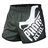 Phantom Athletics Fight Shorts Revolution - Green - Fight MMA Muay Thai Athletic Fitness Shorts