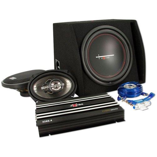 Excalibur TrunckpackX2 exc - Impianto stereo X 2 per BMW X2804/X121Br/X6933, cavi inclusi