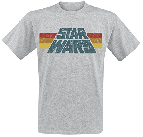 Star Wars Vintage 77 T-Shirt grau meliert L (Star Wars Shirt)